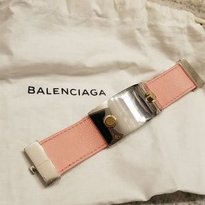 Balenciaga Two-toned Leather Pink Cuff